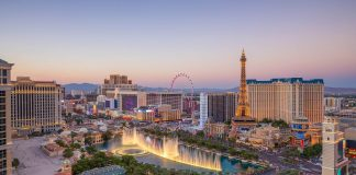 Las Vegas Aerial city view