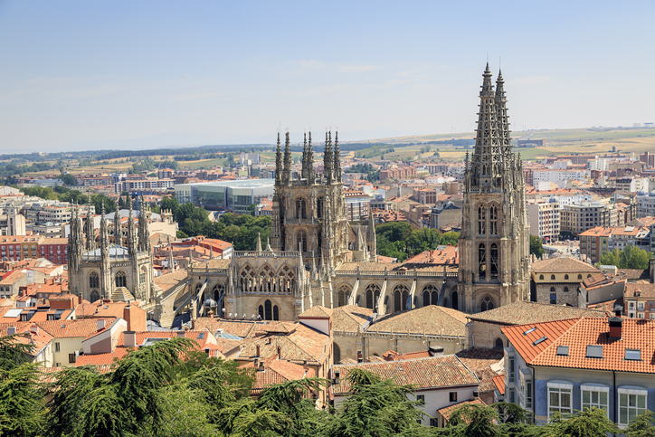 View on the Spanish City of Burgos and the Cathedral