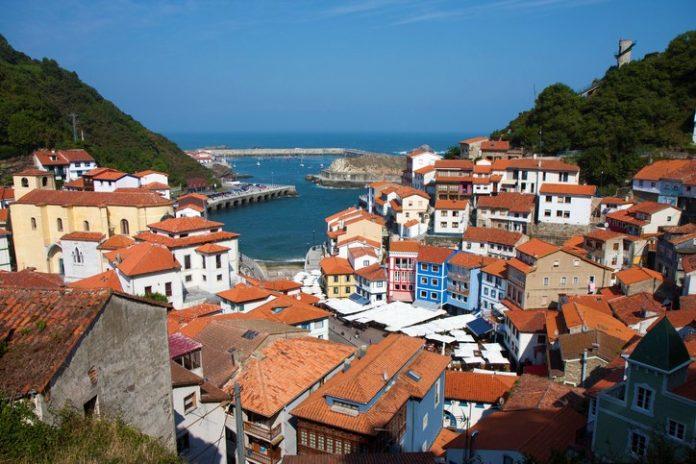 Fishing Village of Cudillero in Asturias, Spain, Warm
