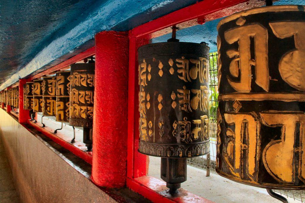 Prayer bells at Do Drul Chorten, Sikkim - Best places to visit in Gangtok