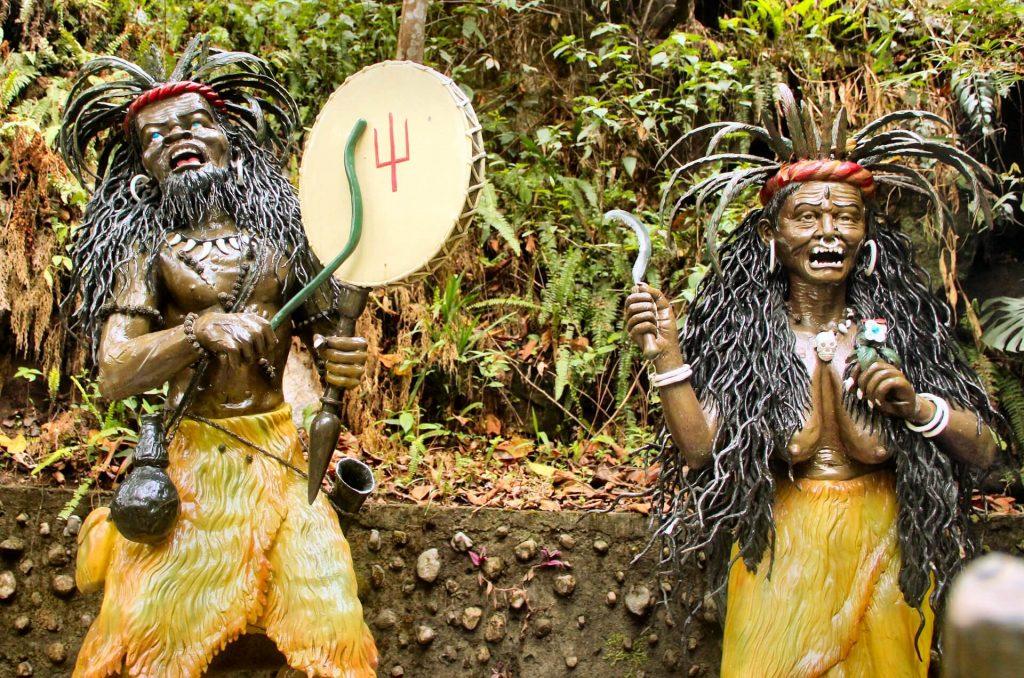 Shamanic figures at Banjhakri falls - Best places to visit in Gangtok