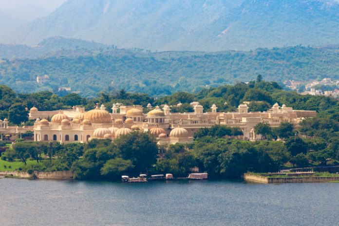 Udaivilas Palace near Pichola lake, Udaipur, India