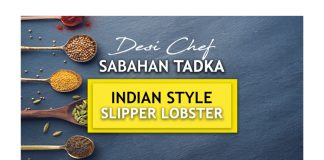 Indian Style Red Chili & Ginger Slipper Lobster