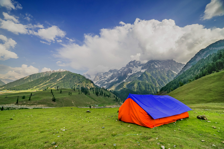 Valley at Sonamarg, Kashmir, is a camper's dream