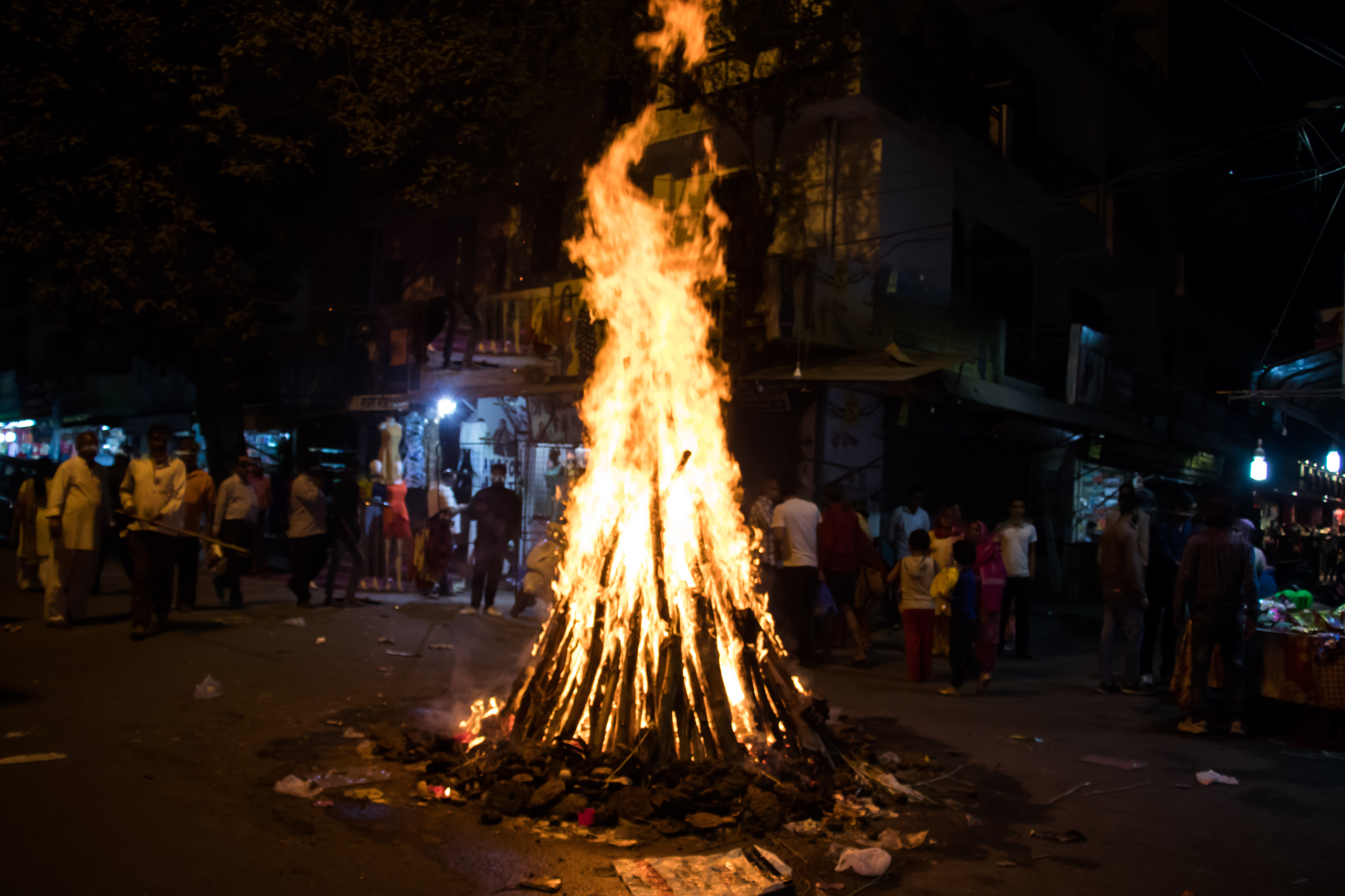 image of firework during holika festival