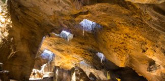The Naida cave at Diu, India, created by the Portuguese.