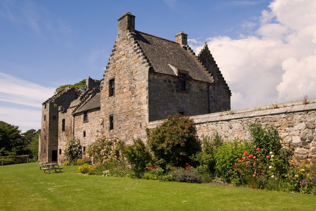 Aberdour Castle is a well-preserved fortified residence founded around 1200 by the Douglas family. The surrounding picturesque terrace gardens and orchard date to around 1600 making them some of the oldest survivors of their kind in Scotland.