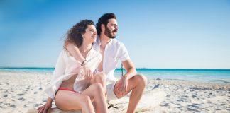 Couple on a Hawaii beach