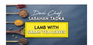 Lamb With Sabah Tea Leaves