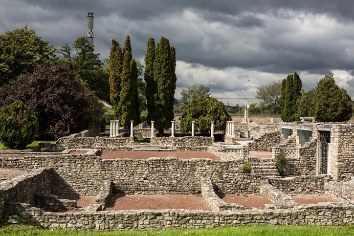 ruins of the 1st century Roman town Aquincum, Budapest, Hungary