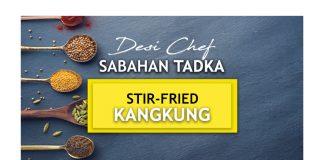 Stir-fried Kangkung