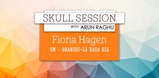Skull Session interview card - Fiona Hagan, Shangri-La Rasa Ria