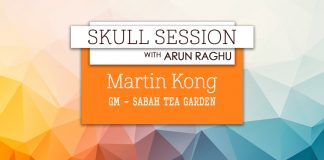 Skull Session interview card - Martin Kong, Sabah tea garden and resort