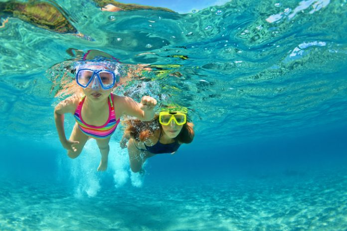 Ssnorkelling in bali with kids