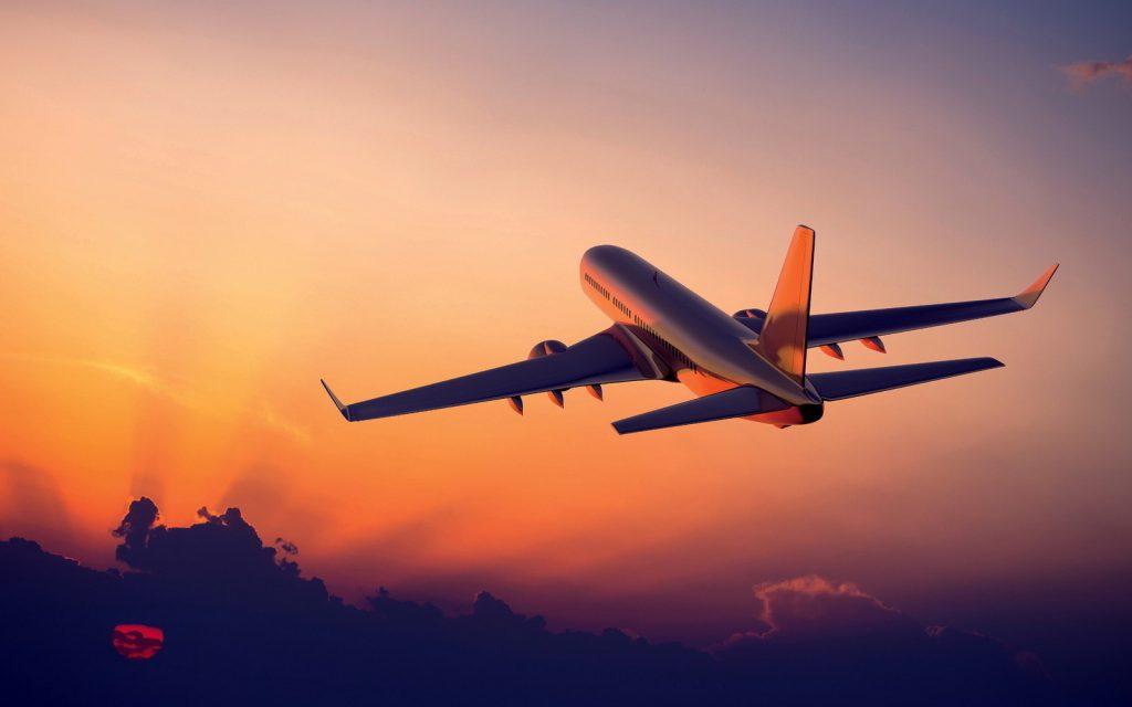 airplane-flight-sunset