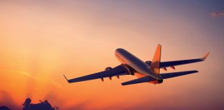 germany, airplane-flight-sunset, Virginia