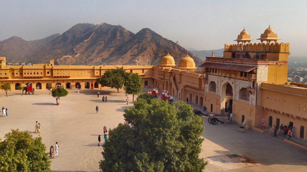 The main courtyard at Amer Fort Jaipur
