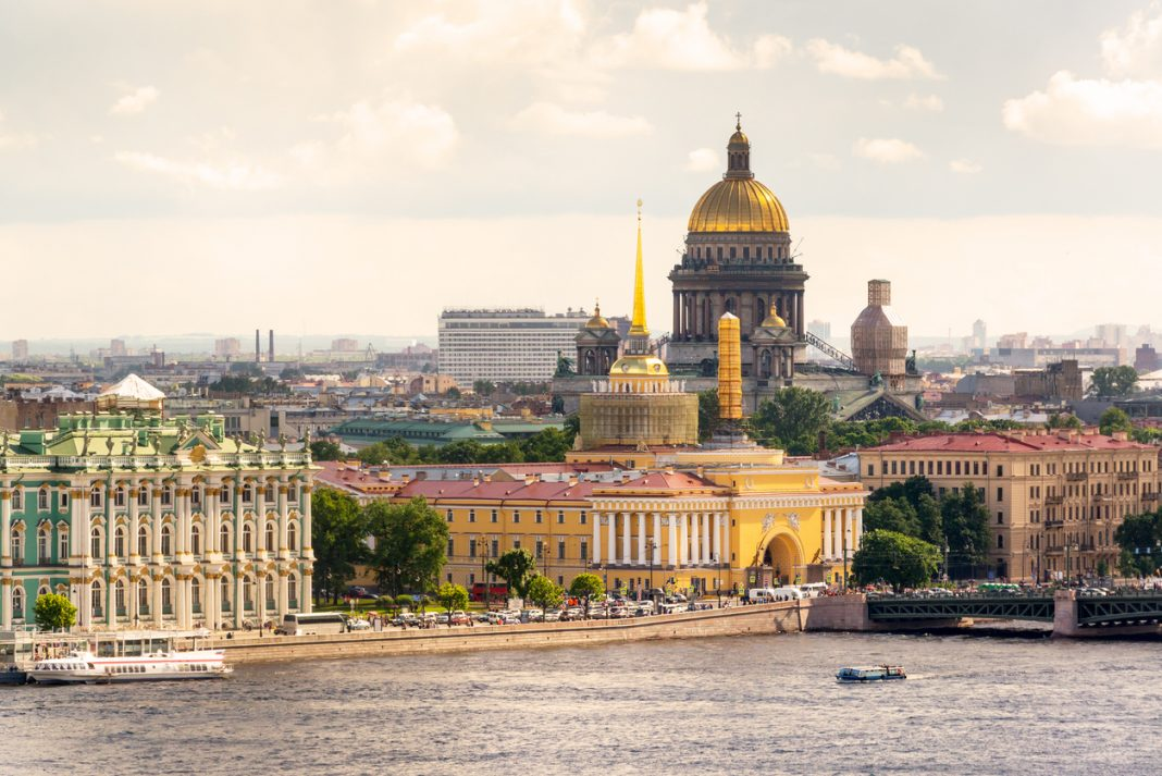 View of the St. Petersburg and the Neva River, Russia. St. Isaac's Cathedral in the distance. things to do in st petersburg