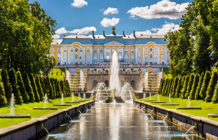 View of the Peterhof Grand Palace - Russia Things to do in st petersburg