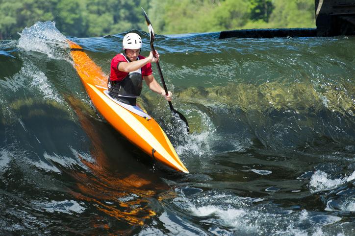 Kayaker runing the rapids