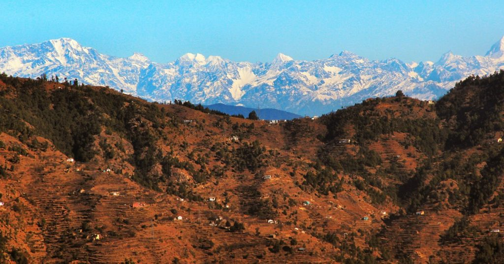 View of the Himalayas from Ramgarh