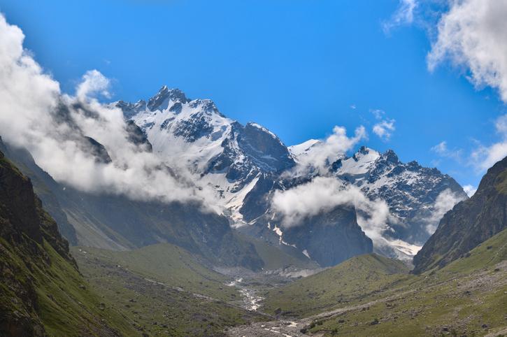 Koshtan-Tau Northern Massif at the Caucasian Mountains
