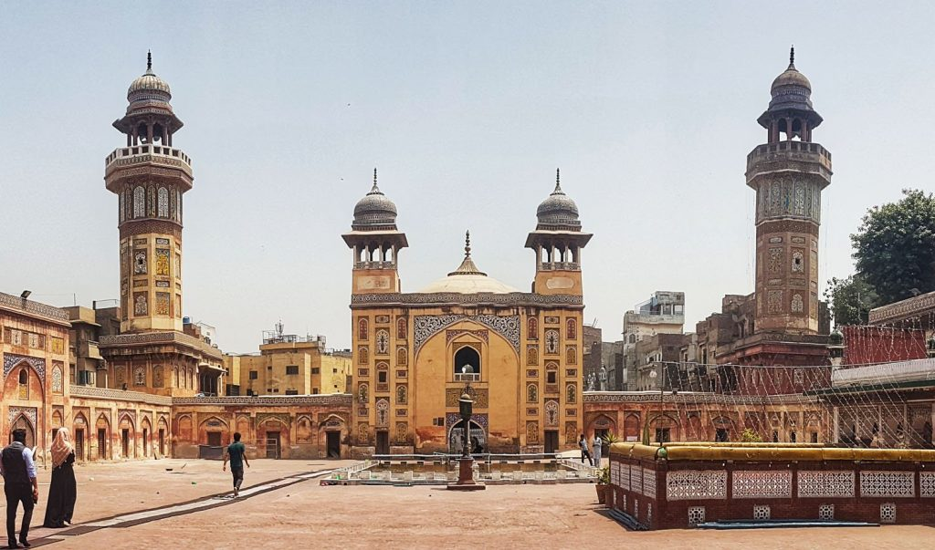 The Wazir Khan Mosque, located in Lahore, Pakistan