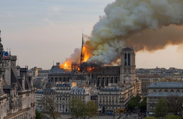 notre dame fire donations