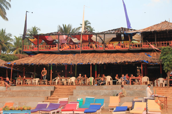 Curlies Shack beachfront bars in goa