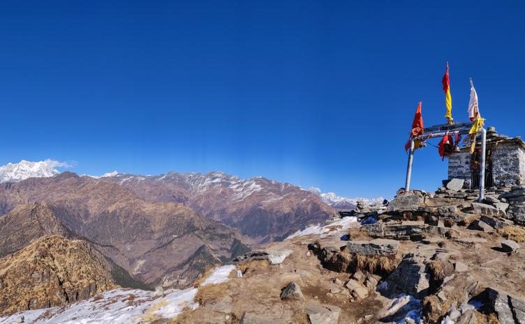 Chandrashila is summit of the Tungnath