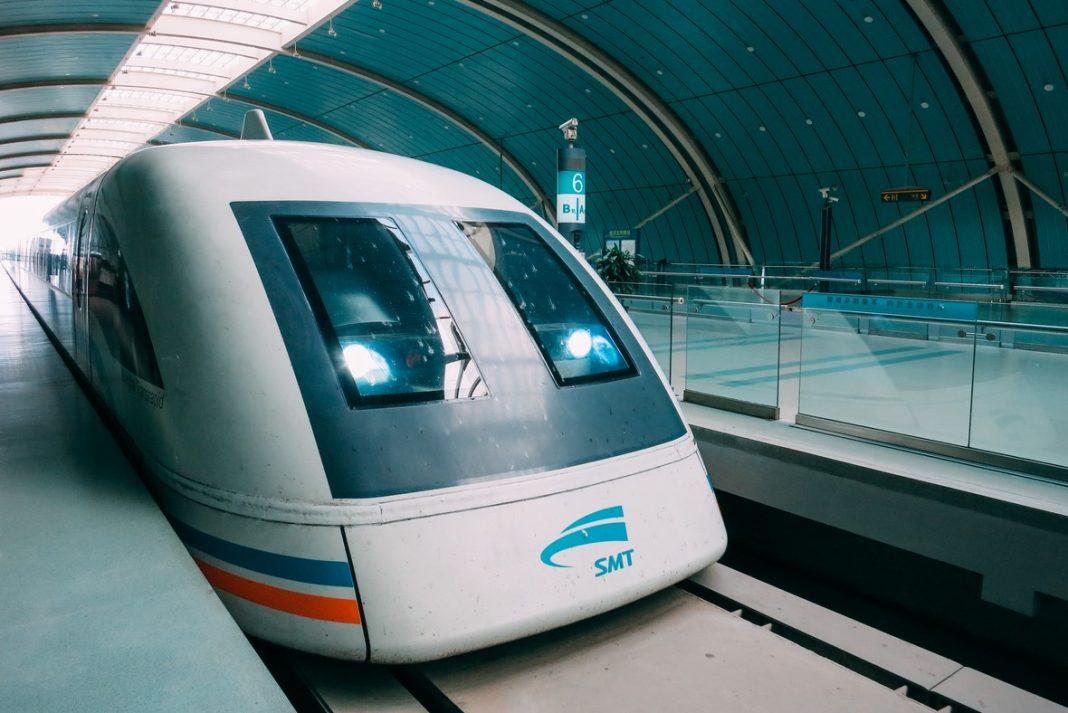 Shanghai China Maglev train high speed
