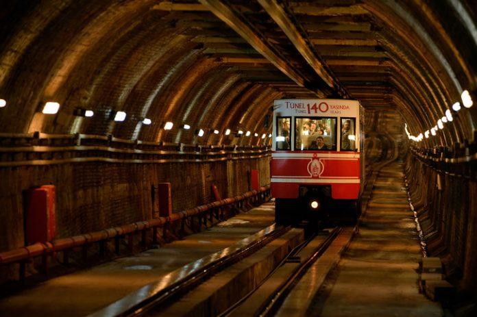 Tunel the underground railway in Istanbul, Turkey.