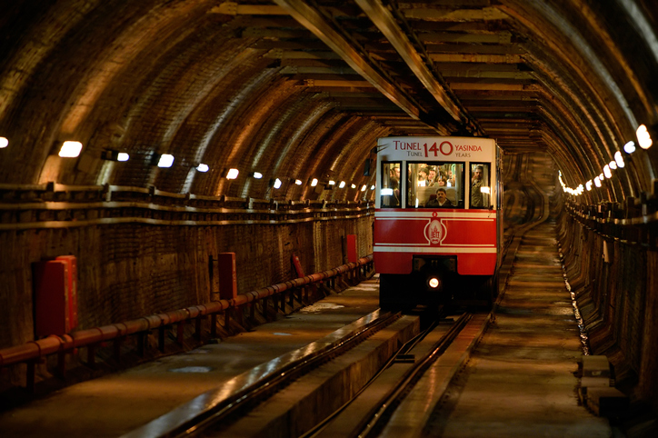 Tunel the underground railway in Istanbul, Turkey.
