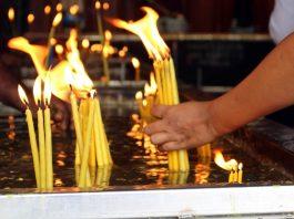 Pilgrims of Saint Anthony Shrine in Colombo