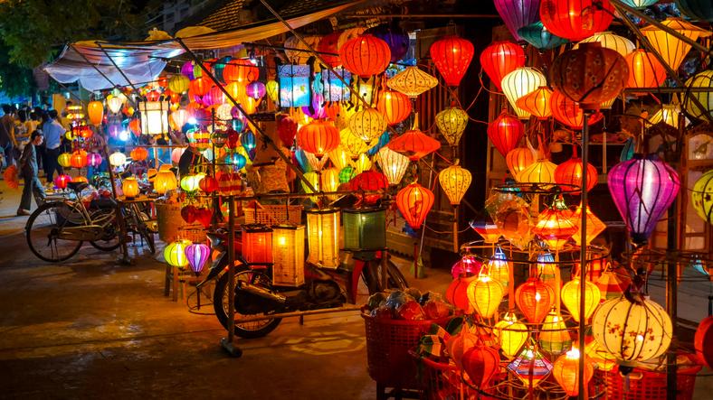 Lanterns in Hoi An, Vietnam, Budget Destinations