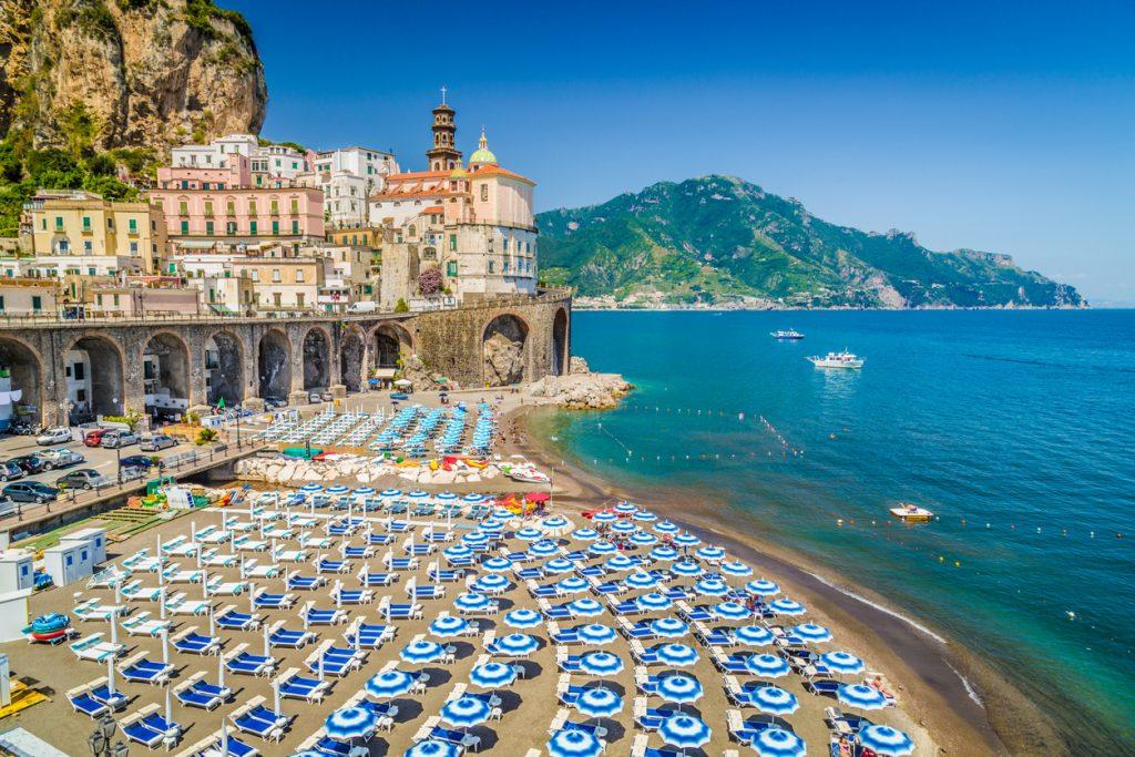 Historic town of Atrani, Amalfi Coast, Campania, Italy