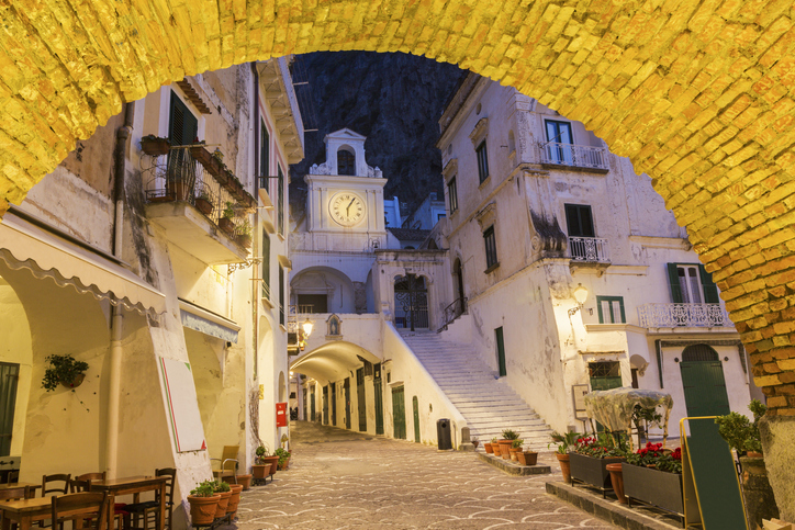 Church of San Salvatore de' Birecto, Atrani on Amalfi Coast in Italy. places to visit in atrani