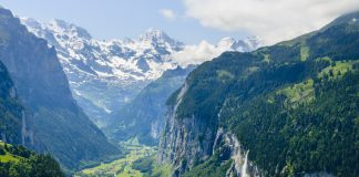 Breathtaking view of Lauterbrunnen Valley, Switzerland