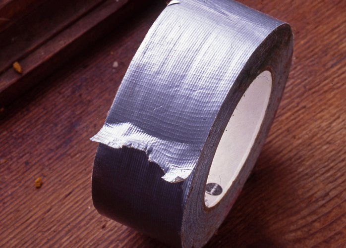 a roll of the invaluable duct tape hiking hacks