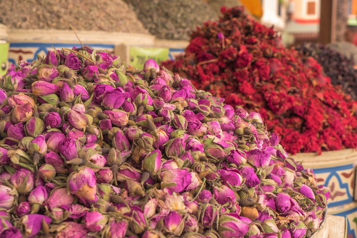 A mountain of dried flowers.