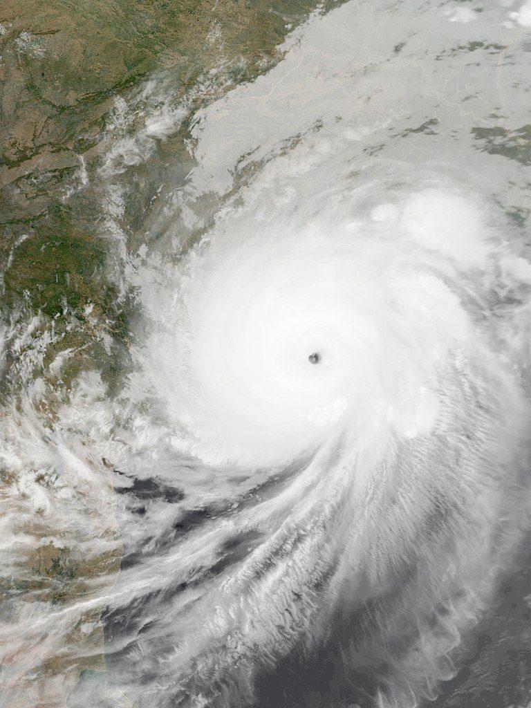 Cyclone Fani at peak intensity on 2 May, while approaching Odisha