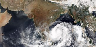 Tropical Cyclone Fani, located in the Bay of Bengal