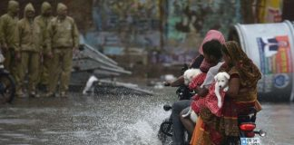 Cyclone Fani motrbike floods Getty Images