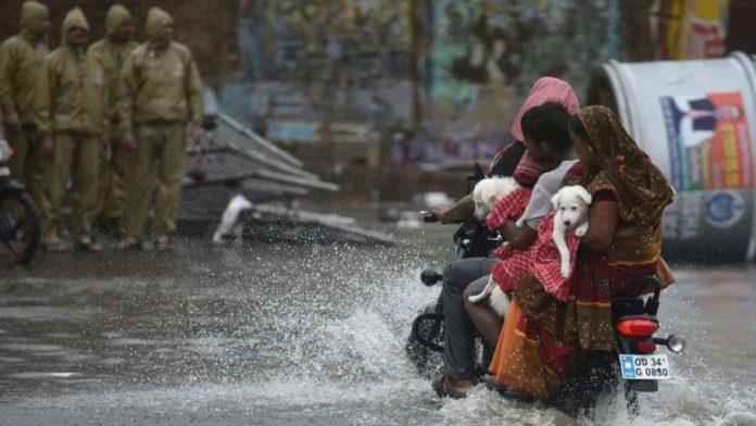 Cyclone Fani motrbike floods Getty Images