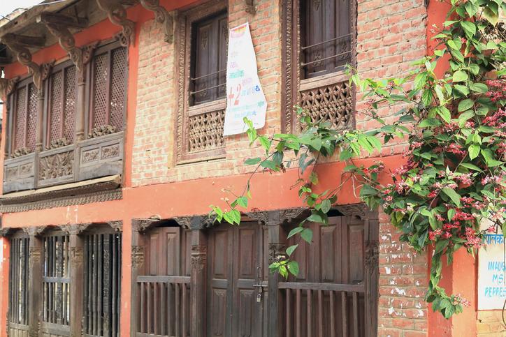 Newari style house. Bandipur in Nepal