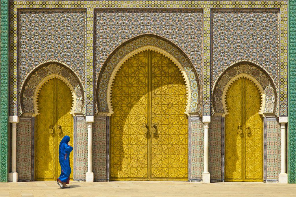 morocco - Golden door in Fes, door of Royal palace