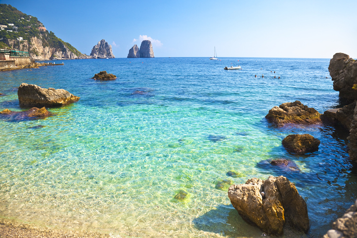 Beach on Capri Island, capri tourists