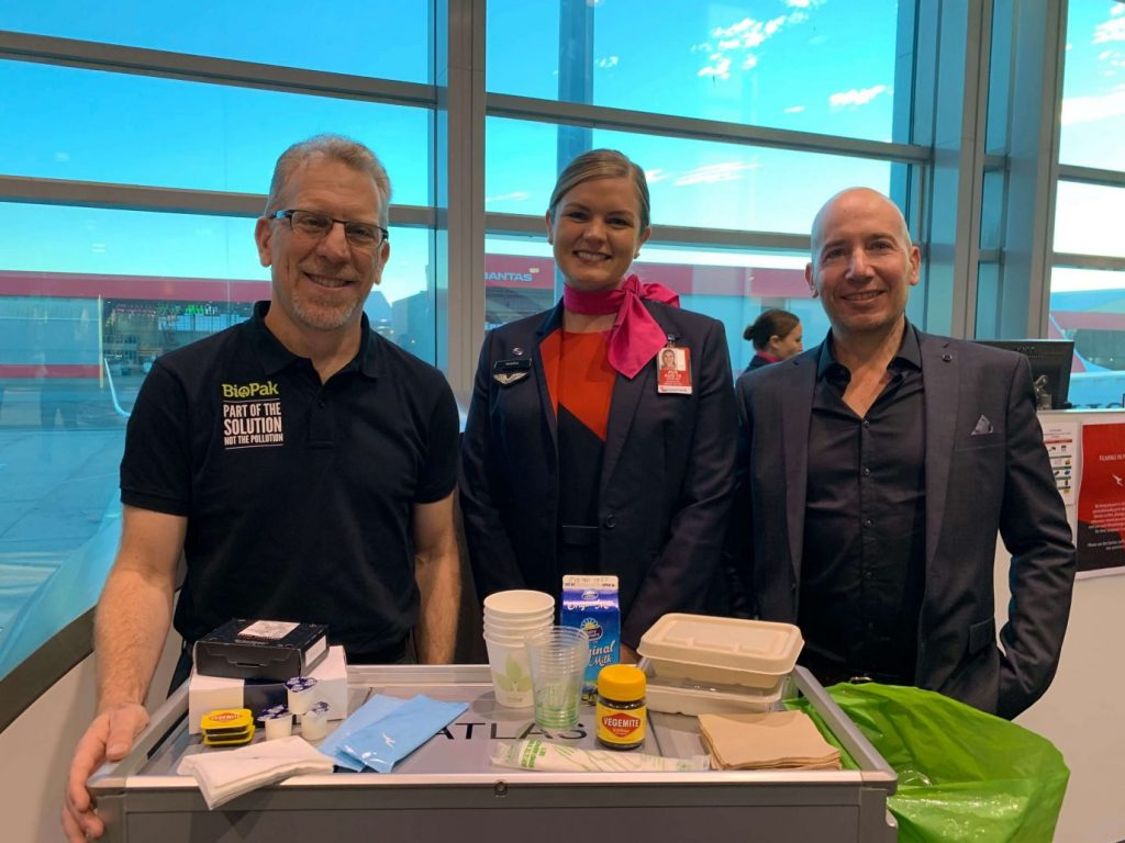 BioPak supplied eco-friendly food and drink packaging Qantas