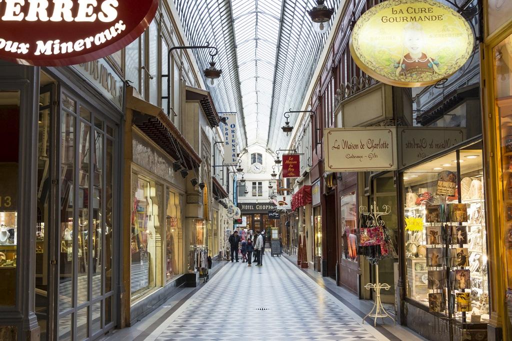 The passage Jouffroy, Paris, France