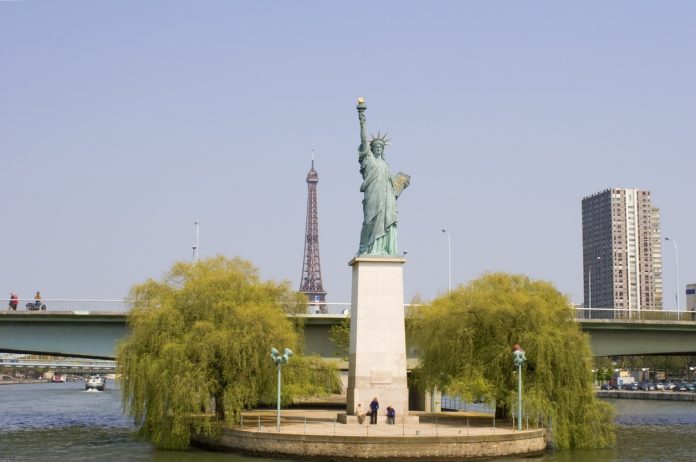Statue of Liberty at the Seine in Paris